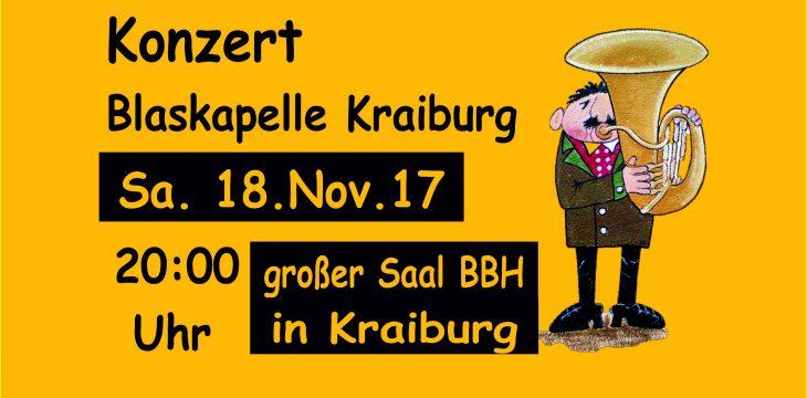 Konzert am 18.11.2017 – Einladung