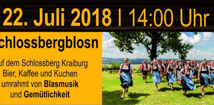 Schlossbergblosn am Sonntag, 22. Juli 2018