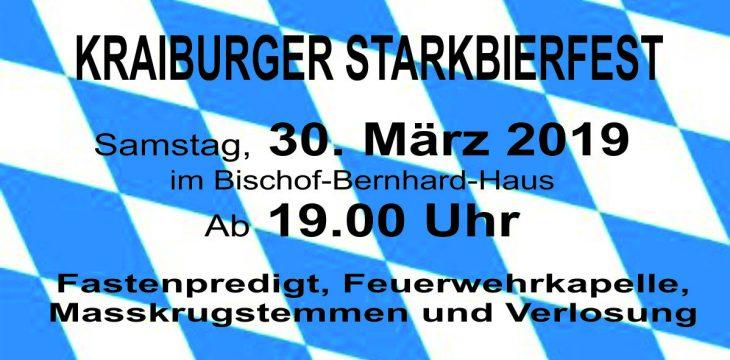 """Zweites Kraiburger Starkbierfest """"steht in den Startlöchern"""""""