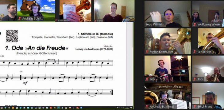 erste Musikprobe Dahoam der Vereinsgeschichte